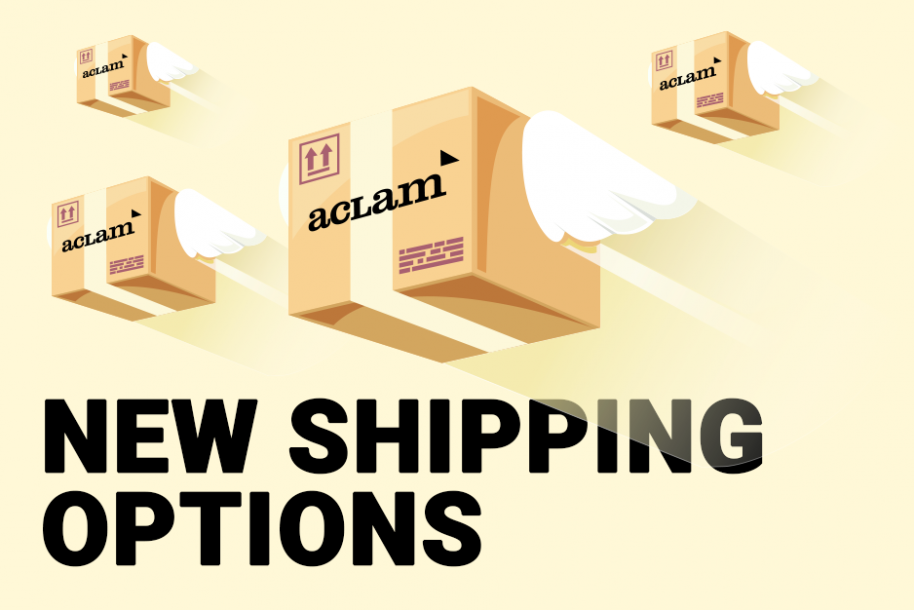 New Shipping Options at Aclam's Online Store