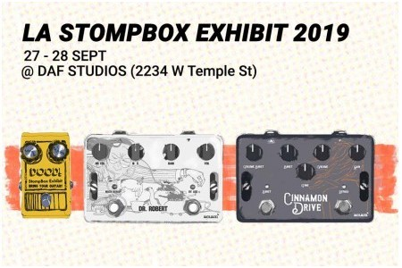 Check out Aclam's effects pedals at Los Angeles Stompbox Exhibit 2019!!! | Aclam Guitars