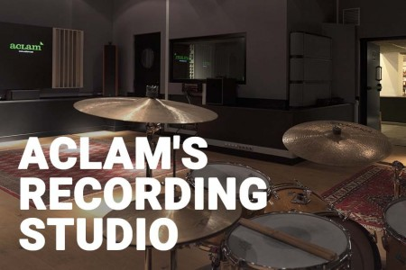 Aclam's recording studio in Barcelona with artists like Kendrick Lamar and Rosalía