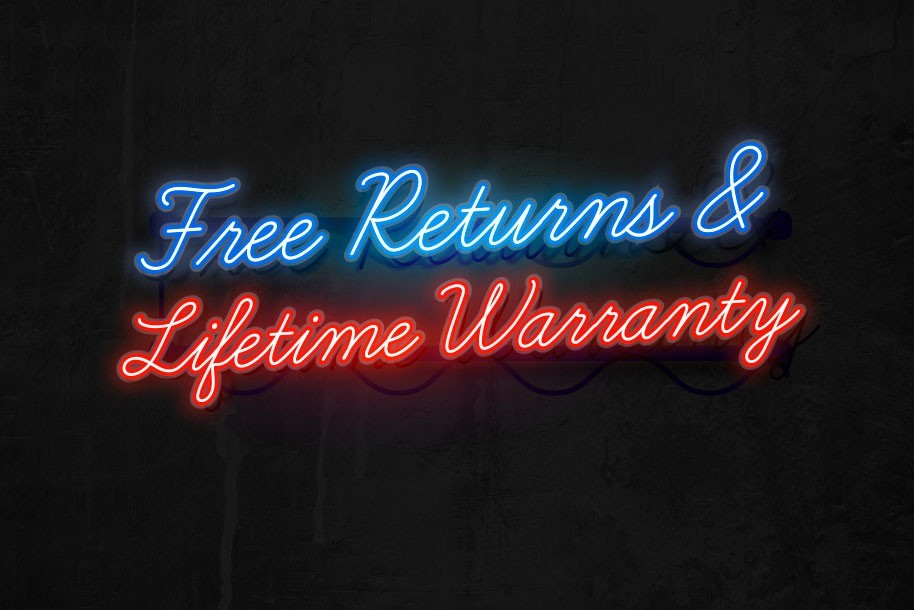 Free Returns – Lifetime Warranty