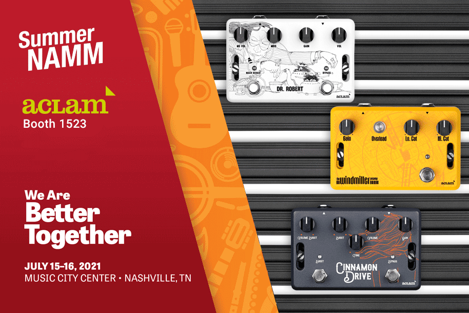 Summer NAMM 2021: Aclam Guitars at booth #1523
