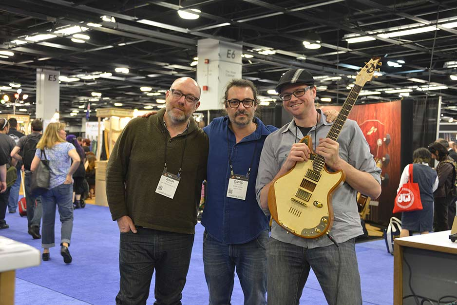 Adam Levy, David Soler and Doug Wamble with the 20:14 guitar