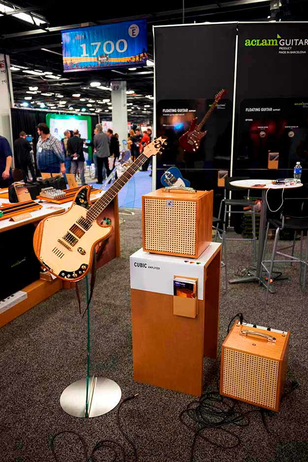 The 20:14 Guitar, the Cubic3 amplifier and the Floating Guitar.