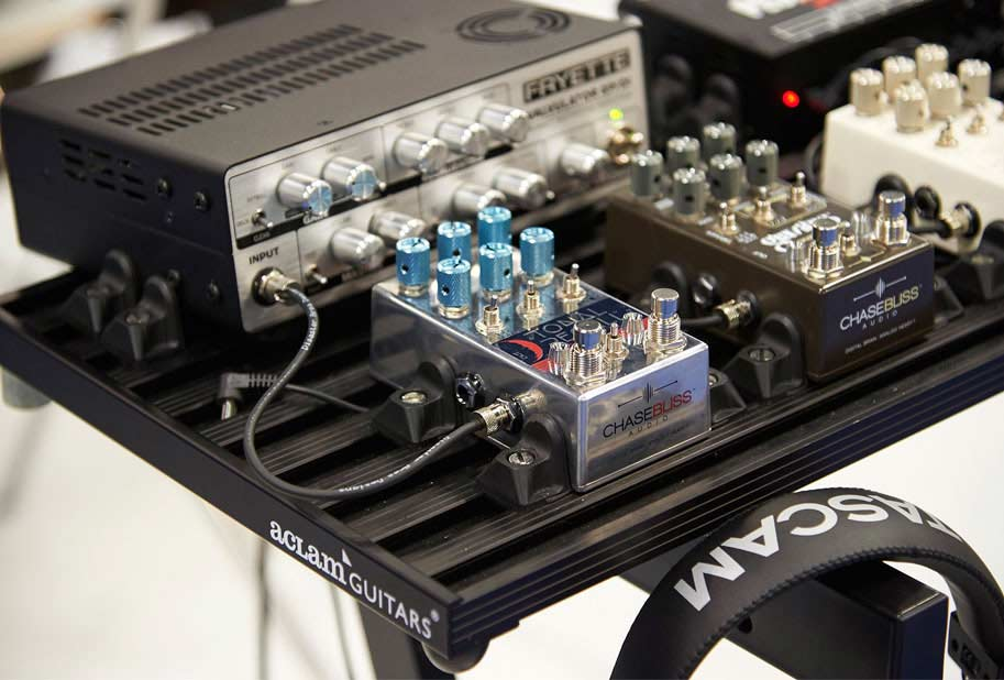 Chasebliss Audio at NAMM Show & Smart Track pedalboard