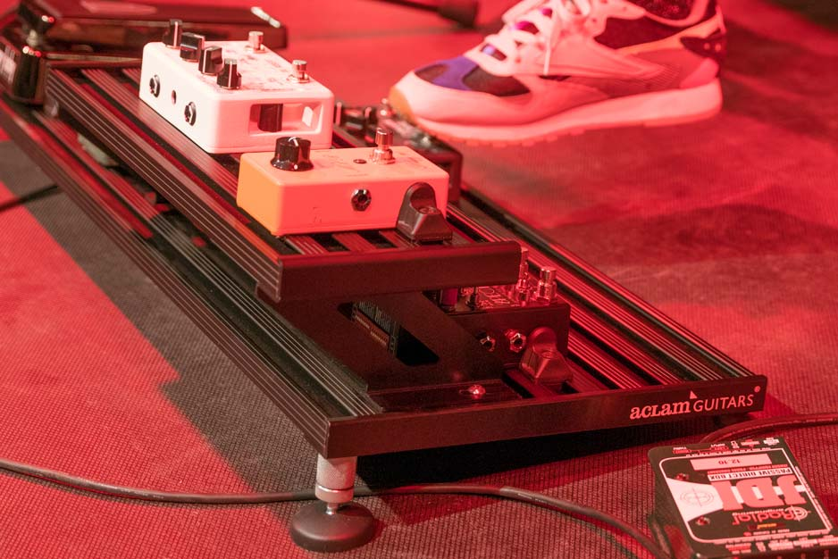 Aclam's range of accessories for tiered pedalboards