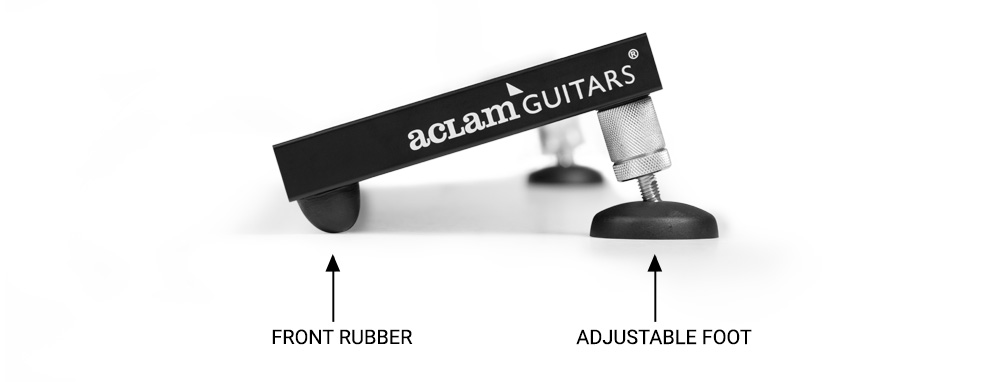 slanted pedalboard aclam rubber feet and adjustable feet