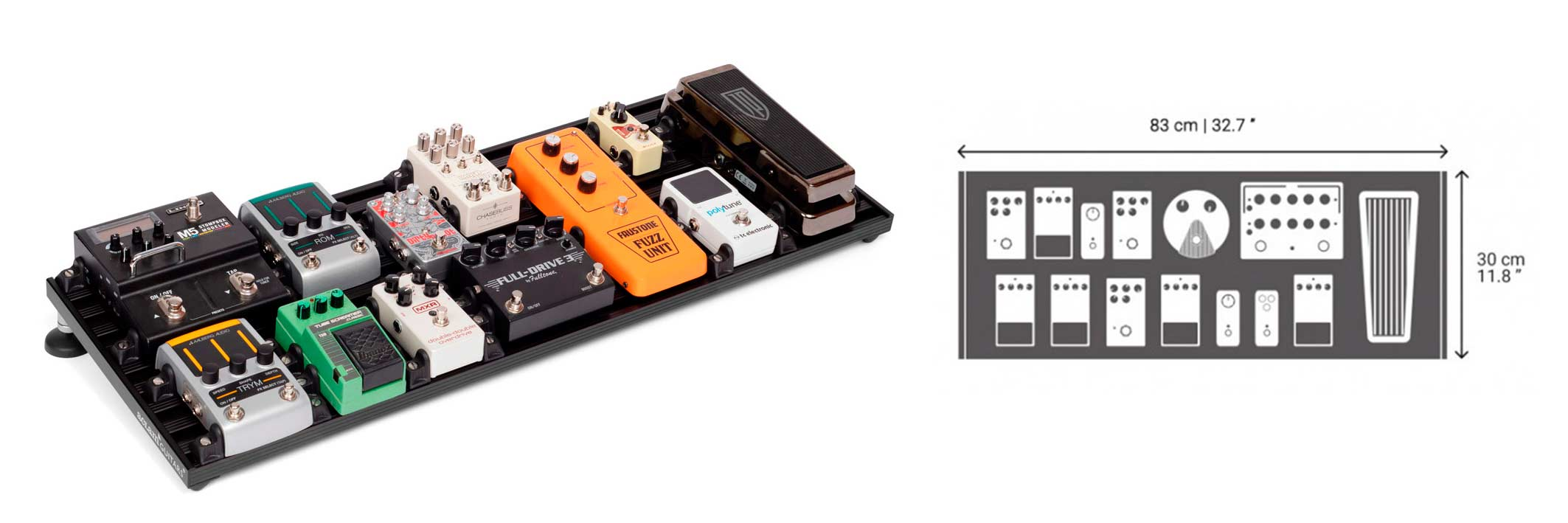 Aclam pedalboard size L2