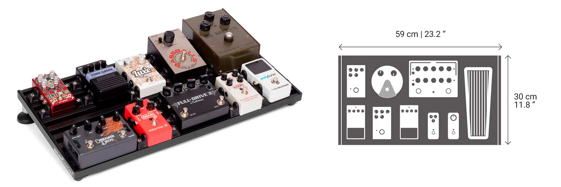 Aclam pedalboard size S2