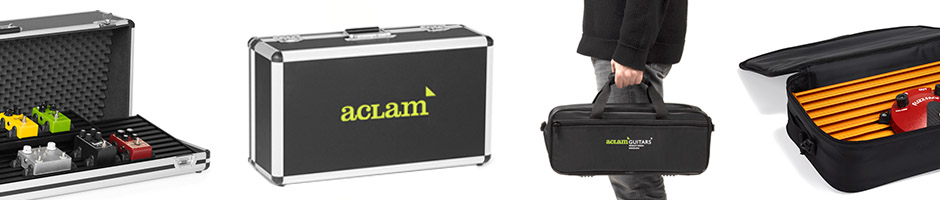 Hardcases and softcases from aclam guitars for pedalboards
