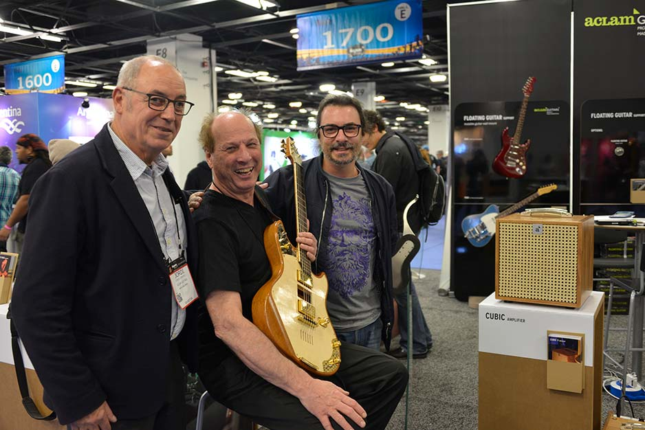 Artists at Aclam Guitars booth