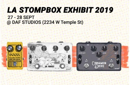 Check out Aclam's effects pedals at Los Angeles Stompbox Exhibit 2019!!!
