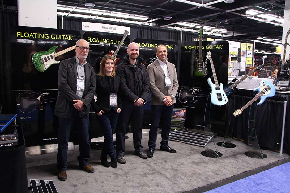 Aclam Guitars at the Namm Show 2013