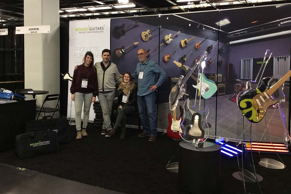 Aclam Guitars at the Namm Show 2014